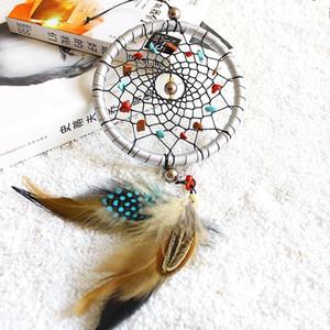 Penas Núcleo Talão Dreamcatcher Parede Pendurado moda Pedra Natural Dream Catcher Pingente de Decoração Para Casa 8 5xr C