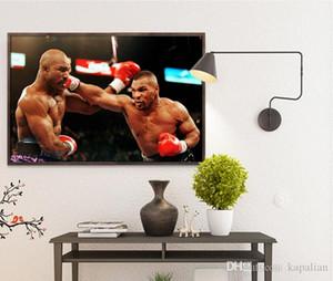 Póster del juego de boxeo Mike Tyson VS Floyd Mayweather Póster de arte Impresión Fotopaper 16 24 36 47 pulgadas