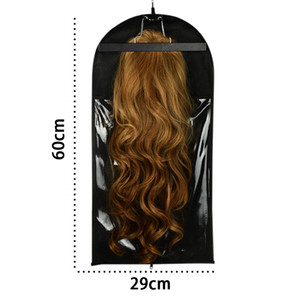 Schwarzes Haar-Verlängerung Verpackungs-Beutel Fügen Aufhänger und Aufhänger Trägerspeicher Perücke Ständer-Haar-Verlängerungen Beutel für Carring und Verpackung Haar