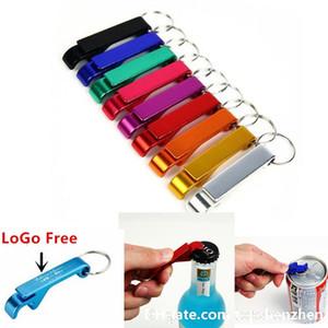 Mit jeder LoGo Bierflasche Keychain Opener personalisierte Logo 4 in 1 Portable Aluminium Bier Flaschenöffner Hochzeit Gunsten Geschenke