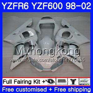 Cuerpo para YAMAHA YZF600 YZF R6 1998 1999 2000 2001 2002 230HM.38 YZF-R6 98 YZF 600 YZF-R600 Blanco brillante caliente YZFR6 98 99 00 01 02 Carenados