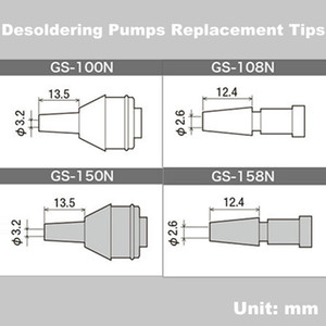 Original Japan GOOT GS Desoldering Pump Nozzle Replacement Tip of Solder Suckers GS-100 GS-104 GS-108 GS-150 GS-154 GS-158 Parts