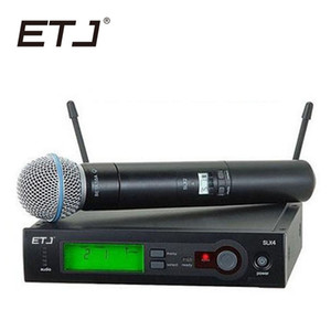 Top Quality SLX SLX24 BETA58 UHF Professional Wireless Microphone System Super Cardioid BETA Handheld Microfone Mic