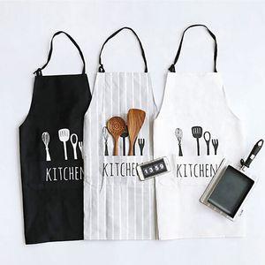 Mode Unisexe Nouvelles Femmes Hommes Tablier Commercial Restaurant Accueil complet Bavoir Spun Poly Coton Cuisine Cuisine Tabliers