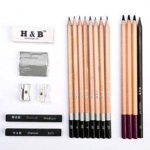 Art 18-piece Professional Artist Sketch & Draw Pencil Set High Quality