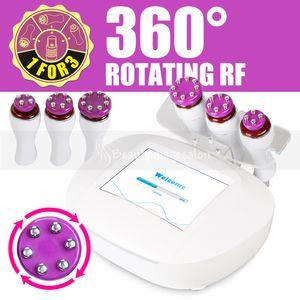 Отпустите руки! 360 ° Rotating 3D Smart RF Head Radio Frequency Похудение Омоложение кожи лица Lift красоты машина