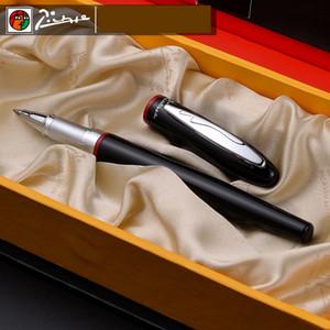 907 lisse noir et rouge Rollerball Pen avec Silver Clip de haute qualité stylos à bille en métal avec Set cadeau original cas Pen