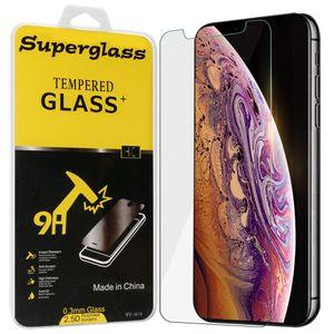 Displayschutzfolie für das neue iPhone 2019 XS Samsung A10 A20 A50 J8 2018 Moto G7 Power Protector Film 0,33 mm gehärtetes Glas mit Kleinkasten
