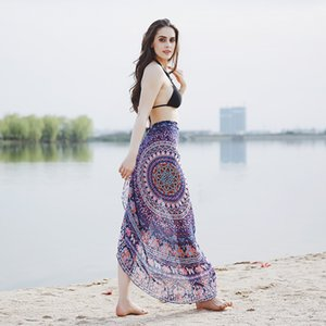 Fashion Blanket Spring and Autumn Folk Style Scarf Round Scarf Summer Seaside Printed Yoga Mat Chiffon Beach Towel