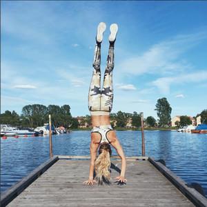 İnce Kadınlar Yüksek Bel Spor Tayt Streç Pantolon Pantolon MS haki Camo Baskı Kalça Yüksek Bel Tayt için Alt Yoga Baskı S-XL Kadın