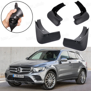 Nuevo 4pcs Car Mud Flaps Splash Guard Guardabarros guardabarros aptos para Mercedes Benz GLC AMG-Line 2017