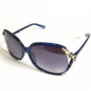Moda Donna Occhiali da sole con montatura grande Occhiali da vista anti-UV Capolino Decorazione Occhiali da sole Occhiali da vista per la guida di viaggio HD Occhiali da sole