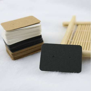 Wholesale 100pcs lot Fashion Jewelry Ear Studs Packaging Display Tag Thick Kraft Paper Earring Card Jewelry Price Tags 2.5x3.5cm