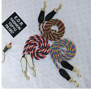 120 CM Renkli Omuz Askısı Altın Metal Kanca Halat Dize Dokuma Çanta Askısı Uzun Omuz Kemerleri Kemerler DIY Çanta Aksesuarları Parçaları