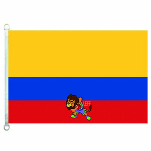 كولومبيا العلم العلم، 90 150CM *، 100٪ البوليستر، لافتة، الطباعة الرقمية