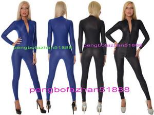 مثير الجبهة زيبر دنة الحرير الجسم البدلة ازياء مثير 6 اللون دنة الحرير البدلة catsuit ازياء للجنسين مثير ارتداءها تأثيري ازياء p327