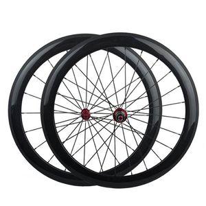 Carbon Wheelset Copertoncino anteriore e posteriore 700C Ruote bici da strada Powerway R13 Hub Migliore qualità
