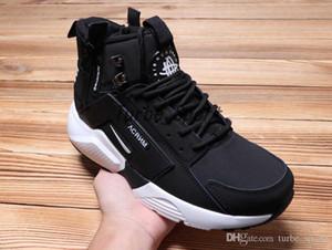 Air Huarache X Akronym City MID Leder-Laufschuhe mit Reißverschluss für Herren High Cut huaraches 6 Brand Designer Sport Sneakers Boots