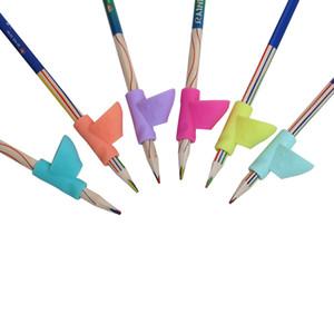 Atacado-3PCS Pen Grip Posture Correção Kids Correção Ferramenta Lápis Holder Escrita Ajuda Ferramenta Desk Sets School Stationery Office Supplies