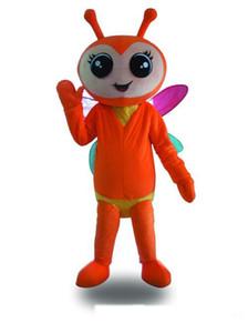 2018 de alta qualidade mel firefly Fancy Dress adulto Animal Mascot Costume frete grátis