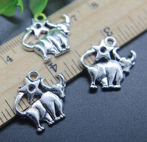 Taurus Constellation сплава подвески кулон ретро ювелирные изделия DIY брелок древний серебряный кулон для браслет серьги 21 * 20 мм