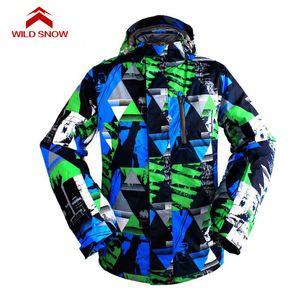 NEIGE WILD New hiver Ski Costume Hommes Vestes Outdoor thermique Snowboard imperméables Escalade Vêtements Neige Ski, D-1010