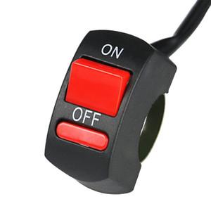 Universal-Motorrad-Lenkerschalter ON / OFF-Taste Bullet-Stecker 12V Fahrrad Lenker Stop-Schalter für LED-Scheinwerfer