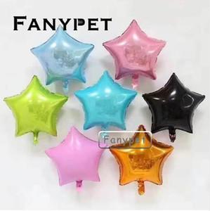 10 unids 18 pulgadas Estrella Globos Fiesta de Boda de Cumpleaños 1er baby shower Decoración helio inflable niños Juguete de papel de regalo globos supplie