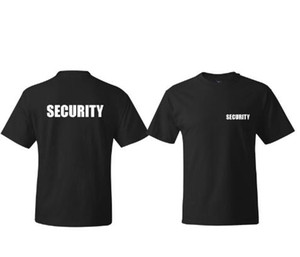 SECURITY Men's T-shirt Event Staff Black DOUBLE SIDED Top Quality Cotton Casual short sleeve Men T Shirts Men Free Shipping