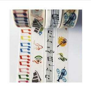 jiataihe washi sticker adhesivo kawaii stationery Notas musicales cinta adhesiva Music not set Adhesive Scrapbooking tape 2016