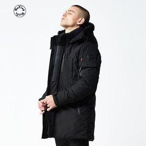 parkas de los hombres Woxingwosu largo de algodón acolchada chaqueta y gorra de engrosamiento de algodón acolchado caot viento masculina prueba de mantener el calor