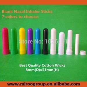 Freeshipping 200 setleri renkli burun inhaler boş sopa, plastik aromaterapi inhaler, boş burun inhaler sopa (pamuk fitil)