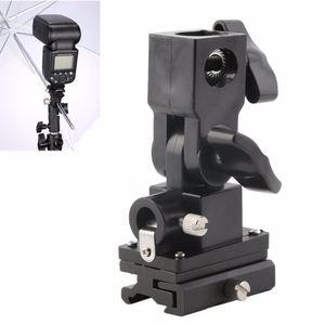 Freeshipping Universal Tipo B Calzado para flash Paraguas Titular Soporte para soporte de luz giratoria para cámara