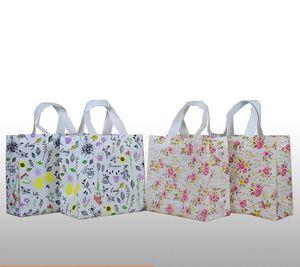 2pcs 친화적 인 부직포 식료품 쇼핑 가방 접이식 패브릭 에코 맞춤형 Webshop 접는 재사용 쇼핑백 카트 여성