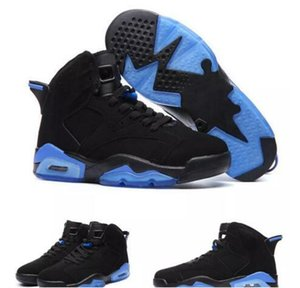 2017 recién llegado 6s UNC Kids Basketball Shoes negro y azul de alta calidad 6s Hombres Niños calzado deportivo Zapatillas de deporte Tamaño 36-47 Kids