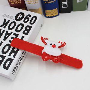 8pcs/lot Christmas Slap Bracelet Christmas Tree Decor Light-emitting Patting Circle Hand Ring gifts