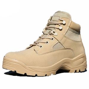 Military tactical Boots men special forces US low zipper combat boots waterproof outdoor soldier Climbing hiking boots