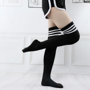 Limited Sale Fishnet Knee Socks Medium Stockings Lovely Japanese Family Kawayi Stripe Student Girl Anime Ventilation Women
