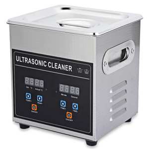 Portable Mini Ultrasonic Cleaner 2L Pulitore per gioielli ad ultrasuoni per protesi Monocultura per occhiali Sterilizzatore Lavatrice ad ultrasuoni NB