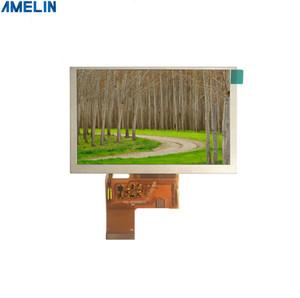 Display LCD TFT da 5 pollici a 800 * 480 risoluzione con schermo di interfaccia RGB prodotto dalla manifattura del pannello di amelin di Shenzhen