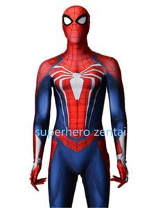 Yeni Insomniac Örümcek-adam Kostüm PS4 Oyunu Spiderman Cosplay Zentai bodySuit Spandex Yortusu Spandex Catsuit yetişkin / çocuklar / özel