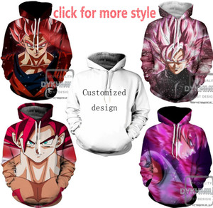 Neue Mode Paare Männer Frauen Unisex Kleidung Dragon ball Z 3D Print Hoodies Pullover Sweatshirt Jacken Pullover Top TT224