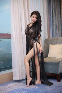 Costumes New Sexy Pijamas Lingerie Hot Black Lace emendado interior erótica tentação calças transparentes Suit Pijamas