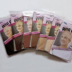 100 adet (50 torba) / Lot YENI Deluxe Rüya Bej Peruk Kap Gerilebilir Elastik Saç Net Snood Peruk Kap peruk Hairnet Saç Örgü yapmak için