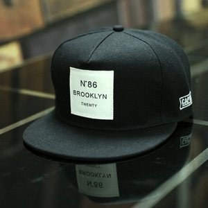 Men Womens Brooklyn Letters Solid Color Patch Baseball Cap Hip Hop Caps Leather Sun Hat Snapback Hats Accessories