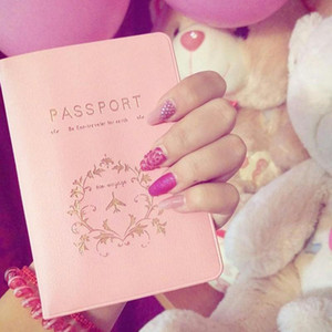 2018 Nueva Moda Parejas Pasaporte Cubierta Negocio Pasaporte Titular Tarjeta de PVC / ID Titulares Paquete de pasaporte RD874959