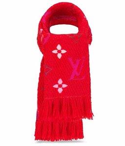 시간을 초월한 액세서리 브랜드 여성 붉은 무지개 다색의 스카프 Allover Wool Shawl 디자이너 레이디 실크 스카프 크기 30 * 175cm