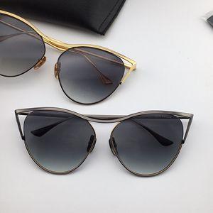 mulheres Dedos do olho de gato revoir ouro negro Sunglasses novo sol colecção de óculos Eyewear Driving Óculos Moda de Nova na caixa