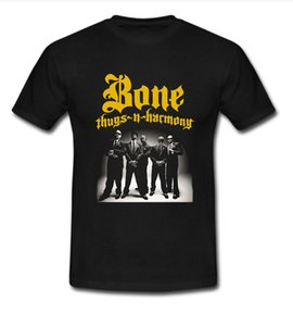 Awesome Diseños de camiseta Crew Neck Men Short Design Bone Thugs N Harmony Funny Camisetas