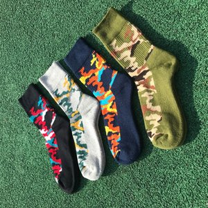 4pairs / Lot Hommes Coton fashional Terry Camouflage Sport Socks
